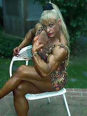 Vilma Caez has dense muscularity and fabulous definition in every body part