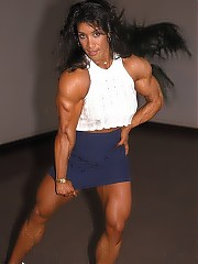 Denise Masino a beautiful woman, beautiful muscularity and great-looking dresses