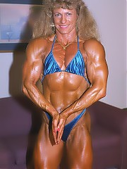 Theresa Nabors a very impressive upper body, featuring great abs, and terrific legs