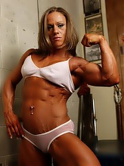 The huge biceps and ripped abs. Powerful muscles flexing, naked gym workouts, amateur and professional women bodybuidlers and fitness models.