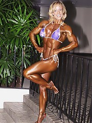 Michele Burdick have a national caliber bodybuilding physique